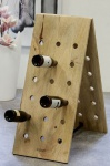 Casa Padrino Champagner Flaschen Ständer aus Mango Holz - Weinflaschen Ständer für 36 Flaschen - Sekt Wein