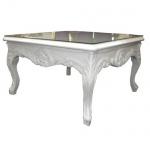 Casa Padrino Barock Beistelltisch Weiß 80 x 80 cm - Couchtisch - Wohnzimmer Tisch
