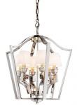 Casa Padrino Luxus Hängeleuchte vernickelt Mod Grand Hotel - Barock Schloss Lampe Leuchte Laterne