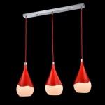 Casa Padrino Jugendstil Decken Hängelampe Rot 76, 5 x H 120 cm Antik Stil - Möbel Lüster Leuchter Deckenleuchte Hängelampe