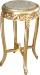 Casa Padrino Barock Beistelltisch mit Marmorplatte Rund Gold/Creme 72 x 39 cm Antik Stil