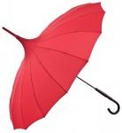 MySchirm Designer Regenschirm Pagode Rot Model Paris - Jugendstil Design - Eleganter Stockschirm
