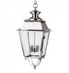Casa Padrino Barock Hängeleuchte Silber Vernickelt, 4 Flammige Barock Laterne, Höhe 86 cm, Breite 38 cm, Tiefe 38 cm - Barock Schloss Lampe