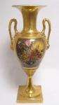 Casa Padrino Barock Porzellan Vase mit 2 Griffen H. 60, 5 cm - Luxus Hotel Vase