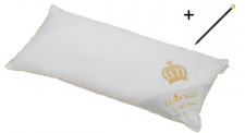 Harald Glööckler Designer Kopfkissen 40 x 80 cm Weiß / Gold + Casa Padrino Luxus Barock Bleistift mit Kronendesign