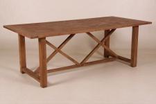 Casa Padrino Teak Esstisch Holzfarben 220 x 100 cm - Landhaus Stil Tisch Teakholz