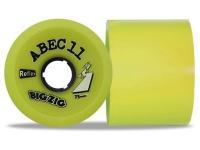 ABEC 11 Reflex BigZigs Yellow 83A 75mm Longboard Rollen Set (4 Rollen) - Longboard Wheels