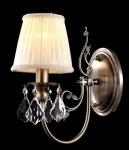 Casa Padrino Barock Kristall Wandleuchte Bronze 28 x H 32 cm Antik Stil - Wandlampe Wand Beleuchtung