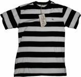 Planet Earth Skateboard T-Shirt White/Black Stripes