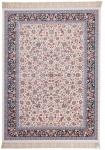 Casa Padrino Luxus Teppich mit Fransen Elfenbeinfarben - Verschiedene Größen - Gemusterter Wohnzimmer Teppich - Deko Accessoires