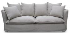 Casa Padrino Luxus Wohnzimmer Sofa Grau 215 x 100 x H. 102 cm - Luxus Qualität