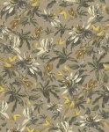 Casa Padrino Luxus Papiertapete Pflanzen Hellbraun / Mehrfarbig - 10, 05 x 0, 53 m - Tapete Mustertapete Botanisch Blumen