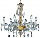 Casa Padrino Barock Kristall Kronleuchter Gold Ø 64 x H. 57 cm - Leuchten & Lüster im Barockstil