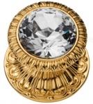Casa Padrino Luxus Barock Türknopf Gold Ø 8 cm - Türknauf mit Swarovski Kristallglas