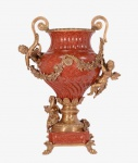 Casa Padrino Luxus Barock Porzellan Vase mit 2 Griffen - Antik Stil