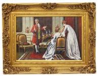 Casa Padrino Barock Öl Gemälde Handarbeit Gold Prunk Rahmen 130 x H. 100 cm - Edel & Prunkvoll