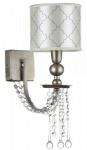 Casa Padrino Barock Kristall Wandleuchte Antik Gold / Beige 14 x 24 x H. 38 cm - Wandlampe im Barockstil