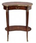 Casa Padrino Barock Beistelltisch mit Schublade Mahagoni Intarsien H70 x 60 x 30 cm - Ludwig XVI Antik Stil Tisch - Möbel