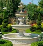 Casa Padrino Barock Gartenbrunnen / Springbrunnen Ø 265 x H. 280 cm - Prunkvoller 3-Stufiger Brunnen im Barockstil