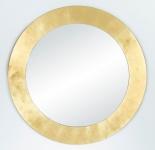 Casa Padrino Wohnzimmer Spiegel Gold Ø 110 cm - Luxus Kollektion