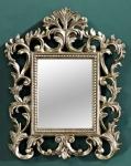 Casa Padrino Barock Wandspiegel Silber 40 x H. 50 cm - Barockstil Möbel