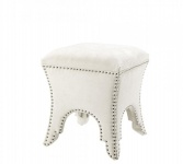 Casa Padrino Luxus Hocker Weiß 39 x 39 x H. 45 cm - Luxus Qualität