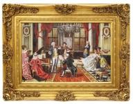 Casa Padrino Barockstil Öl Gemälde Konzert Gold Prunk Rahmen 130 x H. 100 cm - Barock Gemälde