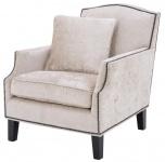 Casa Padrino Luxus Wohnzimmer Sessel Creme / Schwarz 79 x 98 x H. 90 cm - Limited Edition