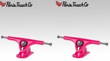 PARIS Longboard Skateboard Achsen Set V2 180mm / 50° Pink / Pink (2 Achsen) Truck Truck Set