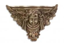 Casa Padrino Barock Wandkonsole mit Engel Bronze 38, 5 x 15, 8 x H.28, 4 - Hotel Möbel