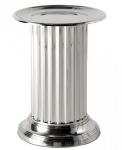 Casa Padrino Designer Luxus Blumentisch Silber Höhe: 45 cm, Durchmesser 33 cm - Edelstahl Tisch - Beistelltisch Nickel Finish - Luxus Qualität