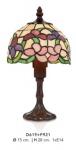 Casa Padrino Tiffany Tischleuchte Durchmesser 15cm, Höhe 28cm Mod3 Mosaik Leuchte Lampe Hockerleuchte