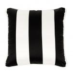 Casa Padrino Luxus Kissen schwarz weiß gestreift 50 x 50 cm - Hotel Accessoires
