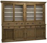 Casa Padrino Landhausstil Küchenschrank 268 x 48 x H. 225 cm - Verschiedene Farben - 2 Teiliger Küchenschrank mit 8 Schiebetüren und 10 Schubladen
