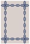 Wunderschöner Luxus Teppich aus 100% Neuseeland-Wolle, Blau/Creme, Samtweich 200 x 300 cm - Hochwertige Qualität