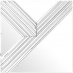 Casa Padrino Designer Spiegel / Wandspiegel 100 x H. 100 cm - Luxus Möbel