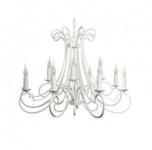 Casa Padrino Barock Decken Kronleuchter Weiß Durchmesser 112 x H 65 cm Antik Stil - Möbel Lüster Leuchter Deckenleuchte Hängelampe