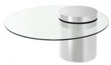 Casa Padrino Designer Couchtisch Silber 90 x H. 43 cm - Luxus Kollektion