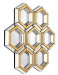 Casa Padrino Designer Spiegel Gold 100 x H 103 cm - Luxus Wandspiegel