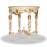 Casa Padrino Barock Beistelltisch Durchmesser 80 x H. 85 cm - Antik Möbel