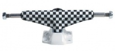 Grind King Skateboard Achsen Set 5.0 LOW KUSTOM Checkered weiß/schwarz (2 Achsen)