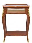 Casa Padrino Barock Beistelltisch Mahagoni Intarsien / Gold H78 x 62 cm - Ludwig XVI Antik Stil Tisch - Möbel