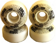 SPECIAL! Zorin Skateboard Rollen Set Weiß 56mm, 100A (1 Set = 4 Rollen) - Profi Wheels Set Wheels - leicht vergilbt!