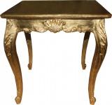 Casa Padrino Barock Esstisch Gold 80 cm x 80 cm- Esszimmer Tisch - Antik Stil Möbel
