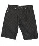 Reell Skateboard Herren Denim Shorts Pinstripe Black