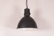 Casa Padrino Hängeleuchte Deckenleuchte Vernickelt Industrial Vintage Design 38cm Durchmesser - Industrie Lampe Hänge Leuchte