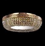 Casa Padrino Barock Decken Kristall Kronleuchter Gold 45 x H 12, 5 cm Antik Stil - Möbel Lüster Leuchter Hängeleuchte Hängelampe
