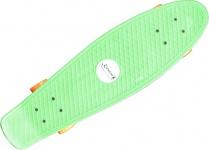 Koston Oldschool Skateboard Plastic Cruiser 70s Style Green/Orange Medium Size - 27.0 x 7.5 inch - Plastik Vinyl Skateboard