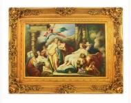 Handgemaltes Barock Öl Gemälde Familien Engel Bildniss 8 Gold Prunk Rahmen 130 x 100 x 10 cm - Massives Material