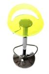 Casa Padrino Designer Acryl Barstuhl fluoreszierend, höhenverstellbar, drehbar- Polycarbonat Möbel - Acryl Möbel - Barhocker
